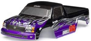 MINI GT-1 TRUCK PAINTED BODY (PURPLE/BLACK) HPI