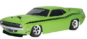 AUTOMODELO ON-ROAD RTR NITRO RS4 3 EVO+PLYMOUTH AAR CUDA, ESCALA 1/10, COM RADIO 2.4GHZ, MONTADO HPI