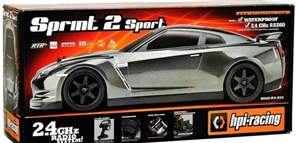 AUTOMODELO ON-ROAD RTR SPRINT 2 SPORT MODELO GT-R (R35), ESCALA 1/10, COM RADIO 2.4GHZ HPI